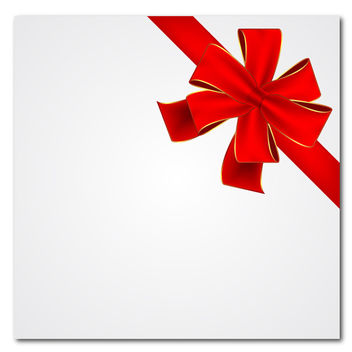 Red Gift Ribbon - Kostenloses vector #339815