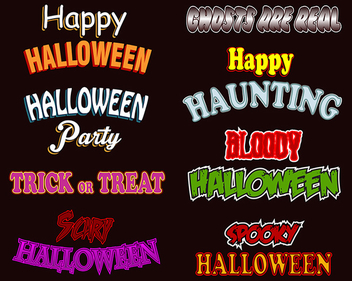 Halloween Text Styles - vector gratuit #339835