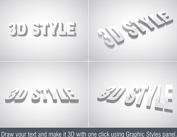 3d Text Effect - vector #339855 gratis