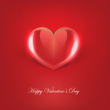 Glossy Red Vector Heart - Free vector #339875