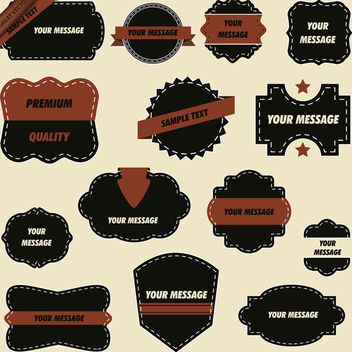 Ornate Quality Labels - Free vector #339975