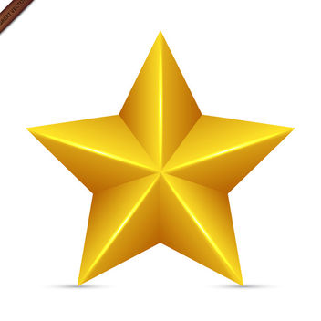 Yellow Vector Star - vector gratuit #340015