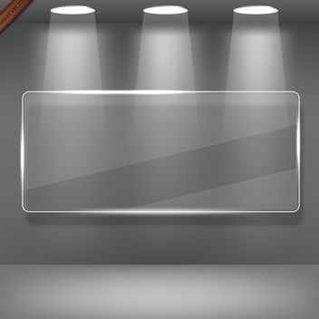 Showcase Gallery with Glass - vector gratuit #340045