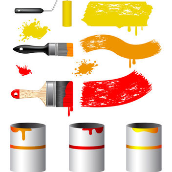Paint Tools Vector - бесплатный vector #340165