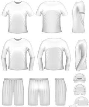 Mens Sports Clothes - vector #340185 gratis