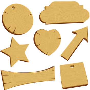 Vector Wood - vector gratuit #340195