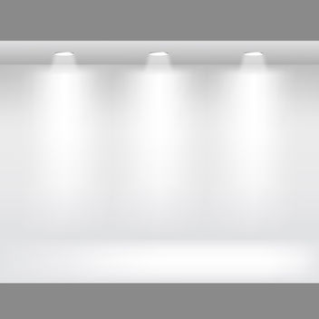 White Showcase Room - vector gratuit #340295
