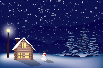 Magic Christmas Landscape - Free vector #340485