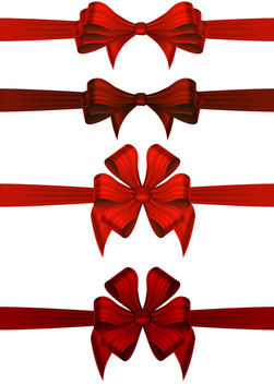 Christmas Gift Ribbons - Free vector #340495