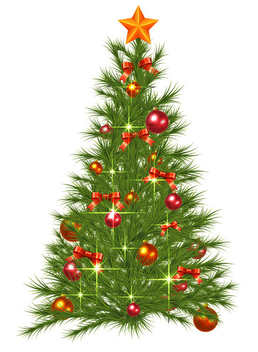 Decorated Christmas Tree - Free vector #340765