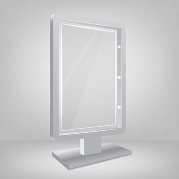 Billboard with Glass - vector gratuit #340795