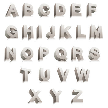 3D Vector Letters - Free vector #340885