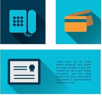 Phone, Credit Card & Certificate Icons - vector gratuit #340935