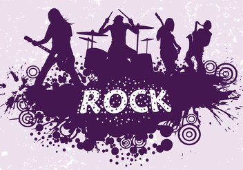 Rock Band Silhouette - vector gratuit #341005