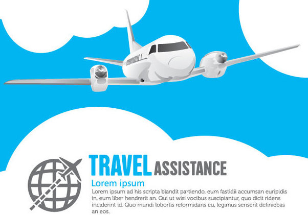 Airplane Travel - Free vector #341045