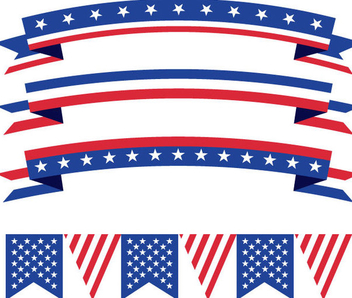 USA Buntings Ribbons - Free vector #341105