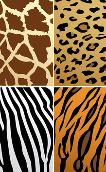 Animal Skin Textures - vector gratuit #341115