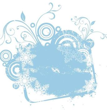 Grungy Snowy Floral Swirling Banner - Free vector #341215
