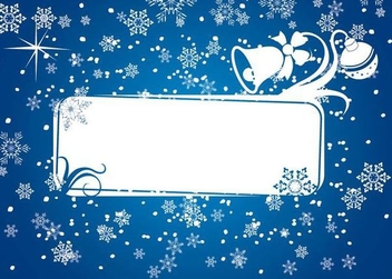 Snowy Decorative Christmas Banner - vector gratuit #341245