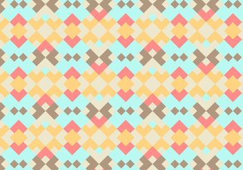 Coral Abstract Geometric Vector Background - Free vector #341355