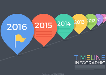Free Timeline Infographic Vector - vector gratuit #341385