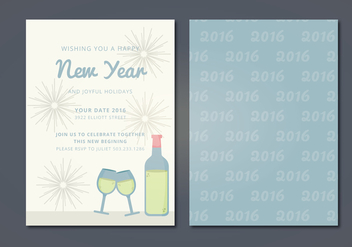 Vector New Year Card - vector gratuit #341555