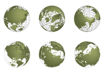 Free Globe Grid Vector set - бесплатный vector #341665