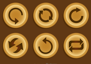 Replay Brown Button - vector gratuit #341715