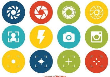 Misscelaneous Camera Related Icon Set - vector #341755 gratis