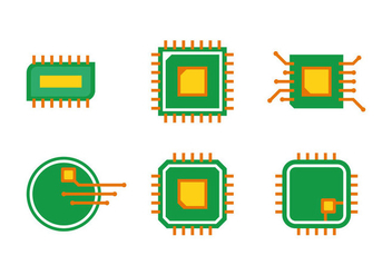 Simple Microchip Vector Set - Free vector #341785