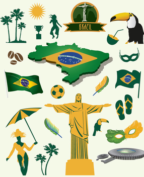 Brazil elements pack - vector #341825 gratis