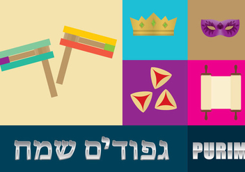 Purim Template - vector gratuit #341895