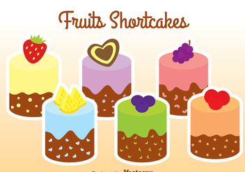 Fruits Shortcakes - vector gratuit #341905
