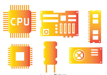 Computer Hardware Component - Free vector #341925