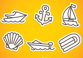 Nautica Gray Outline Icons - бесплатный vector #341945