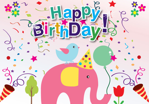 Birthday Card - vector gratuit #341985