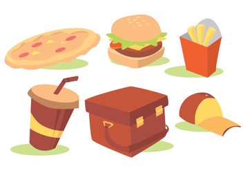 Food Delivery Vector Set - бесплатный vector #342325