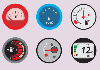 Fuel Gauge for Automobiles - Free vector #342335