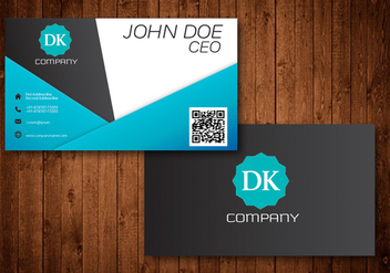 Vector abstract creative business cards - vector gratuit #342395