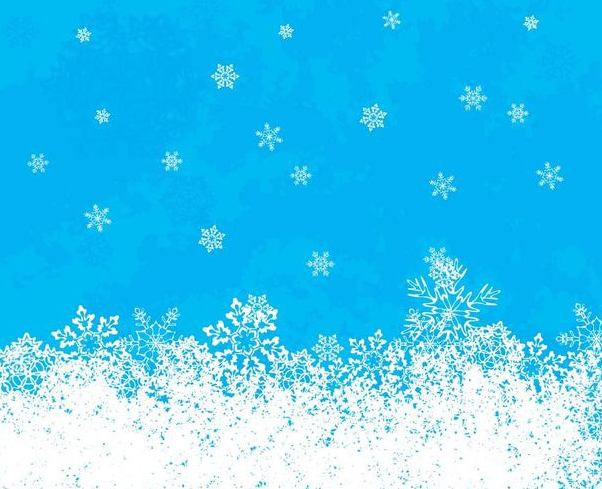 White Snowflakes Blue Background - Free vector #342435