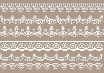 Lace Trim Vectors - Free vector #342655