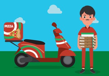 Vector Delivery Man - Free vector #342665