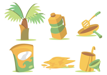 Palm Oil Vector Set - Kostenloses vector #342685