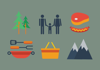 Vector Family Picnic - Free vector #342755