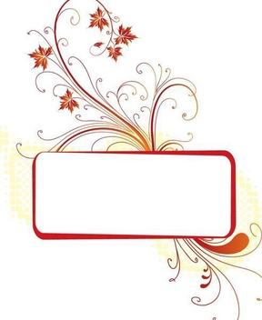 Swirling Autumn Frame Banner - vector gratuit #342835
