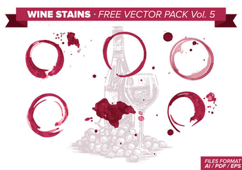 Wine Stains Free Vector Pack Vol. 5 - Free vector #342935