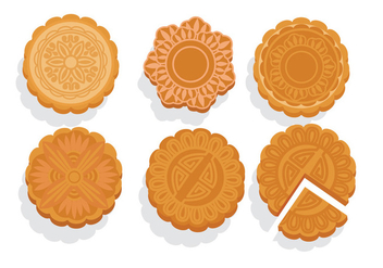 Mooncake Vectors - бесплатный vector #342945