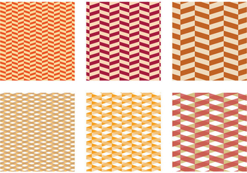 Herringbone Pattern Yellow Vector - vector #343035 gratis