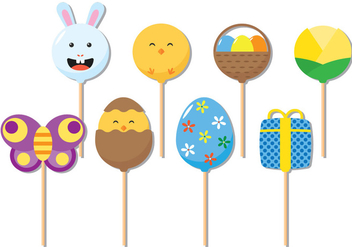 Easter Cake Pops - Free vector #343095