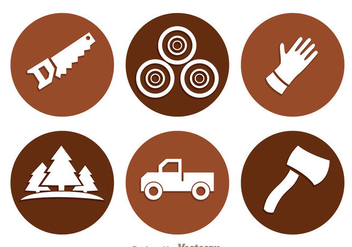 Lumberjack Circle Icons - Free vector #343145